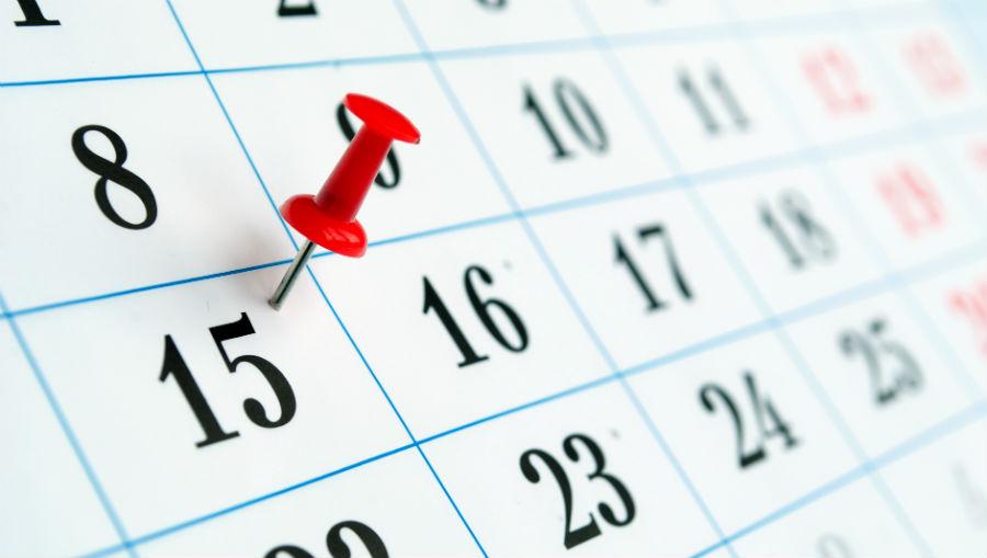 Пример календаря проведения 15 бесед