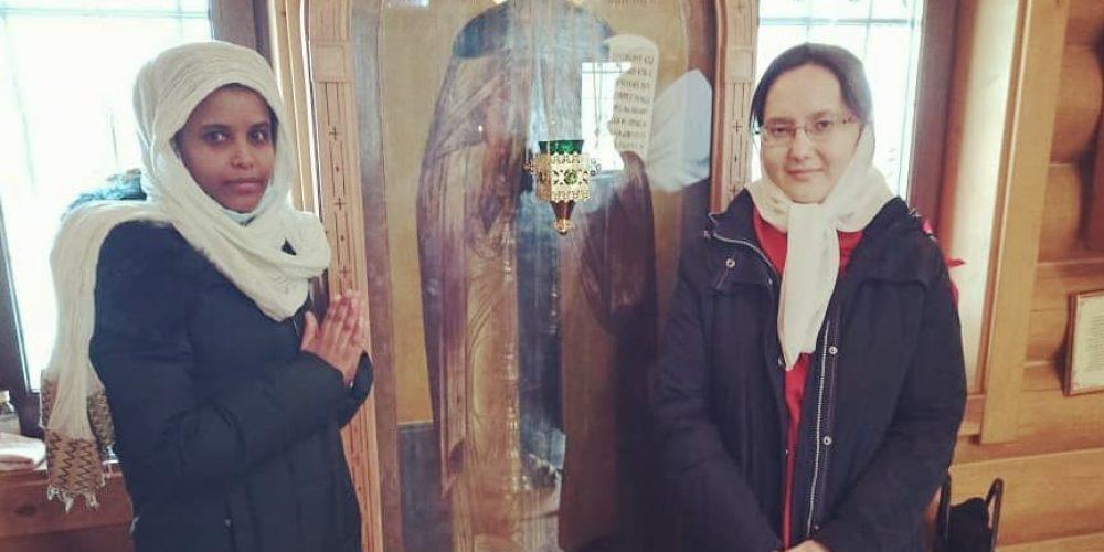 Приход храма Преподобного Моисея Мурина в Южном Бутове посетила член Эфиопского землячества в Москве